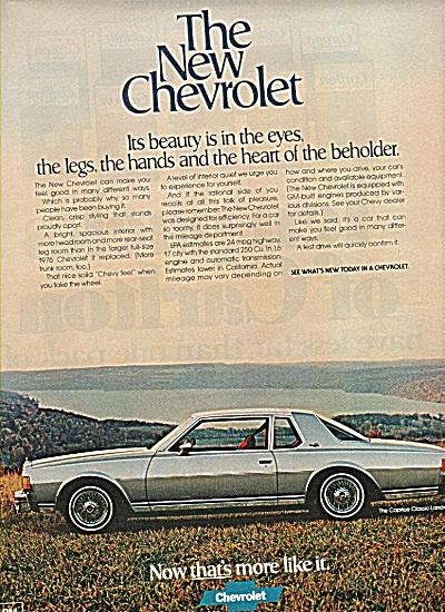 Chevrolet auto ad 1978 (Image1)