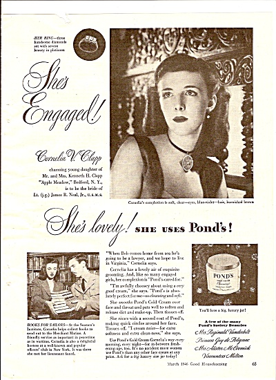 Pond's cold cream ad 1946 (Image1)