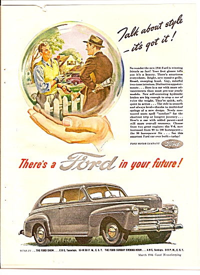 Ford Motor car ad 1946 (Image1)