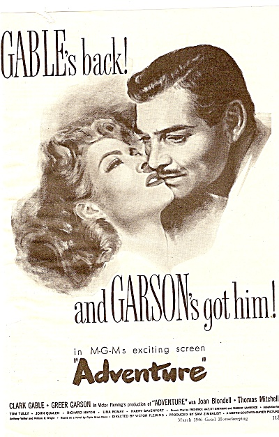 Movi AD:  Adventure - CLARK GABLE - GREER GARSON  1946 (Image1)
