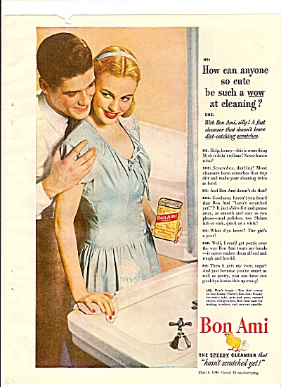 BON AMI CLEANSER AD 1946 (Image1)