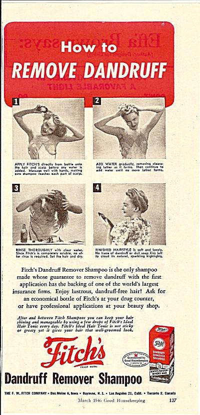 Fitch's dandruff remover shampoo ad  1946 (Image1)