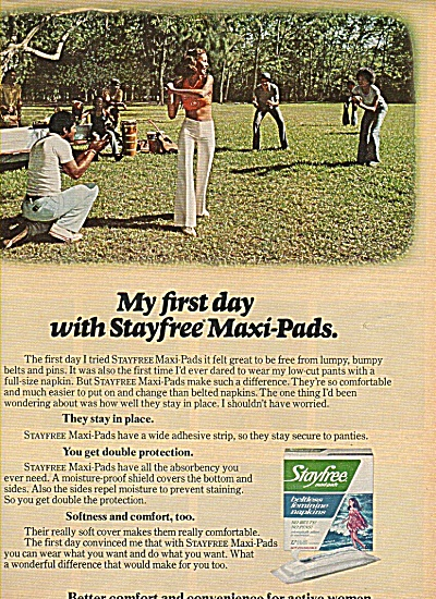 Stayfree maxi pads ad 1978 (Image1)