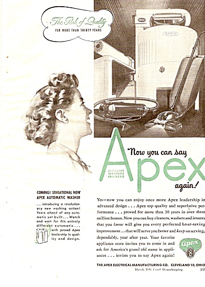 Apex electrical manufacturing co. ad 1946 (Image1)