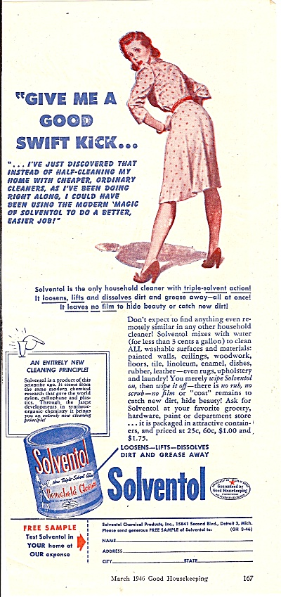 Solventol household cleaner ad 1946 (Image1)
