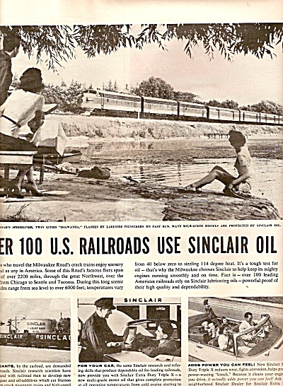 Sinclair Extra Duty Motor Oil Ad 1956