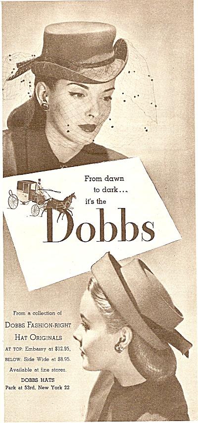 Dobbs womens hats ad 1946 (Image1)