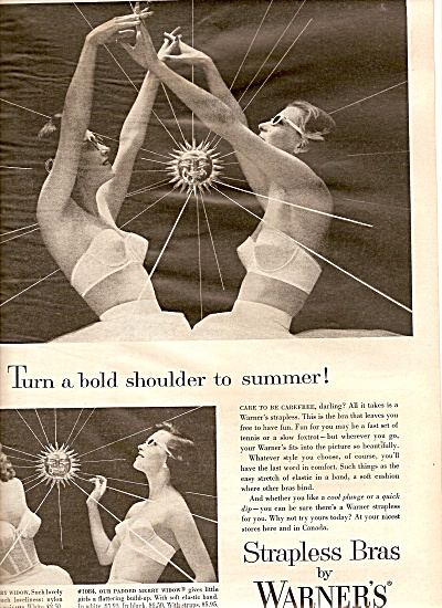 Warners strapless bras ad 1956 (Image1)