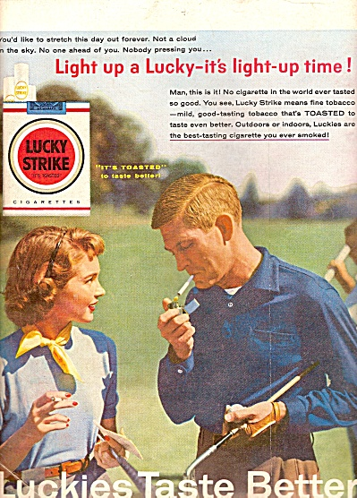 Lucky Strike cigarettes ad 1956 (Image1)
