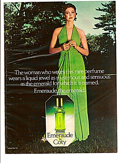 Emeraude by Coty ad 1975 (Image1)