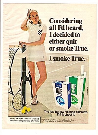 True Cigarettes ad 1975 (Image1)