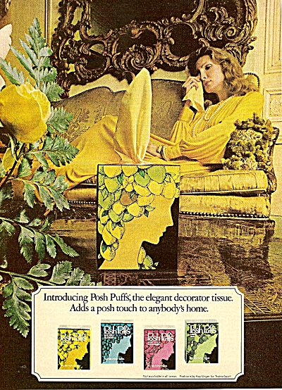 Posh Puffs tissue ad 1975 (Image1)