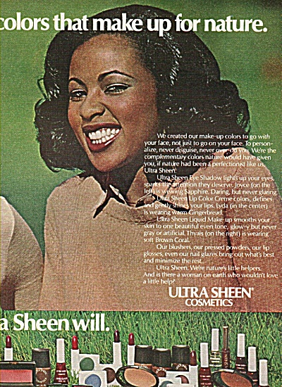 1978 Black Americana Ultra Sheen Cosmetics Ad