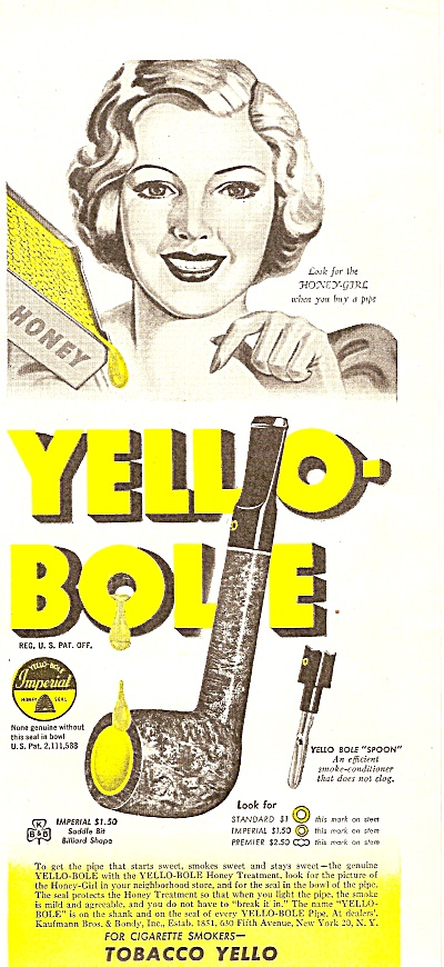 Yello-bole pipe ad 1947 (Image1)