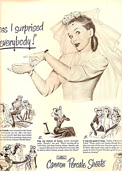 Cannon Percale sheets ad 1947 (Image1)