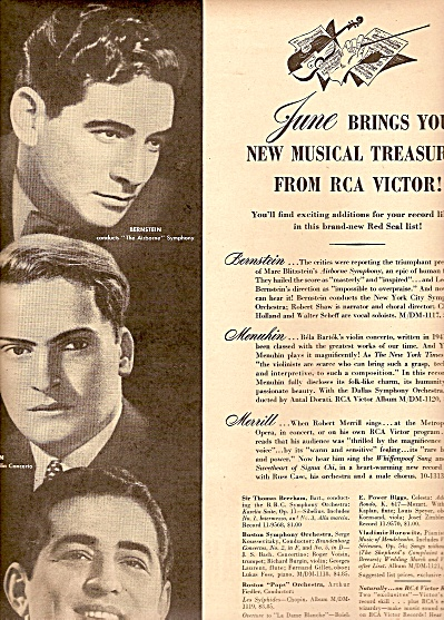 Rca Victor Records Ad - 1947