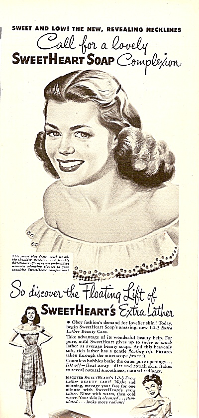 Sweetheart Soap Ad 1947