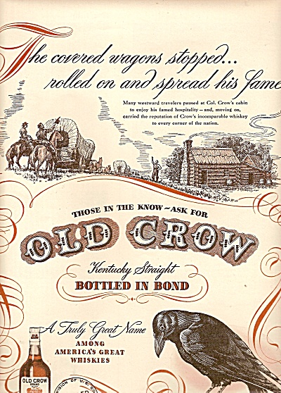 Old Crow whiskey ad 1947 (Image1)