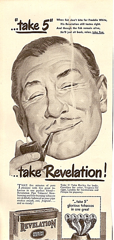 Revelation pipe tobacco ad 1947 (Image1)
