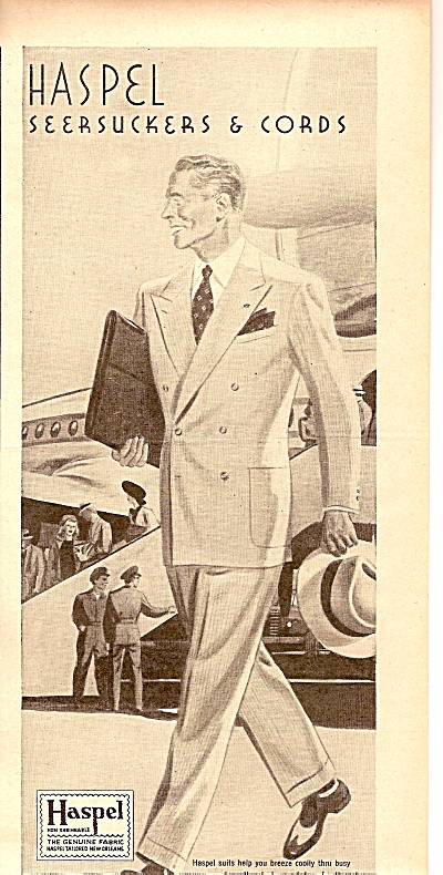 Haspel Cool Suits Ad 1947