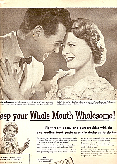 Ipana tooth paste ad 1950 (Image1)