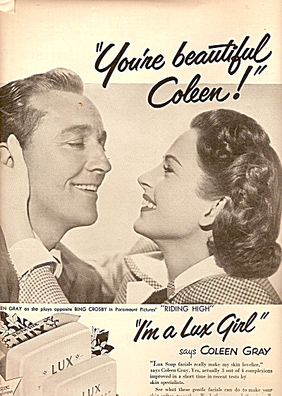 Lux soap - BING CROSBY - COLEEN GRAY AD 1950 (Image1)