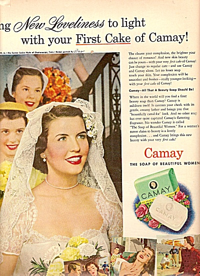 Camay soap ad 1950 LOUISE HYDE Chattanooga TENN (Image1)