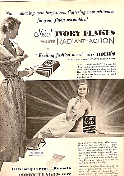 Ivory Flakes Ad 1950