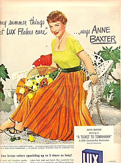 Lux soap  ad - ANNE BAXTER  1950 (Image1)