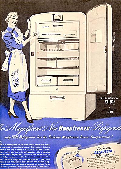 Deepfreeze refrigerator ad 1950 (Image1)