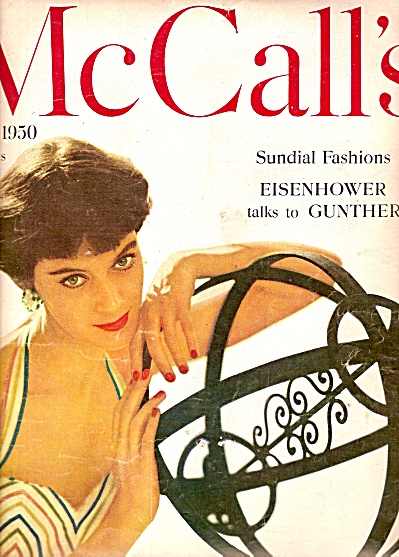 Cover Model On Mccall's 1950