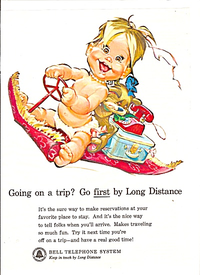 Bell Telephone system ad 1963 BABY MAGIC BETSY (Image1)