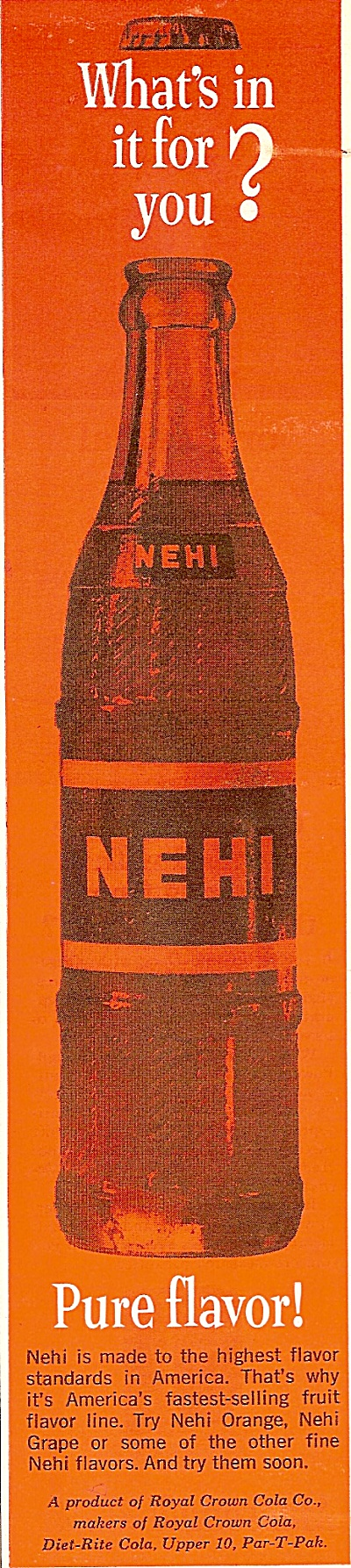 Nehi soft drinks ad 1963 (Image1)