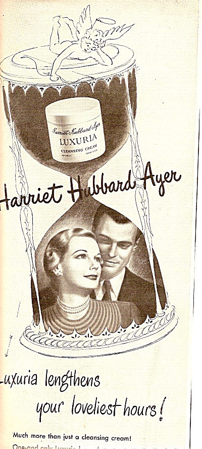 Harriet Hubbard  Ayer's Luxuria cleansing cream 1948 ad (Image1)