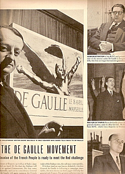 The DeGaulle movement  story 1948 (Image1)