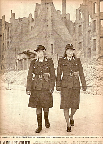 Berlin Germany policewomen 1948 (Image1)
