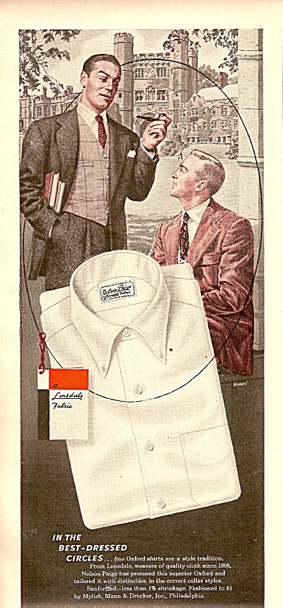 Nelson-paige Creative Shirtmaker--ad 1948