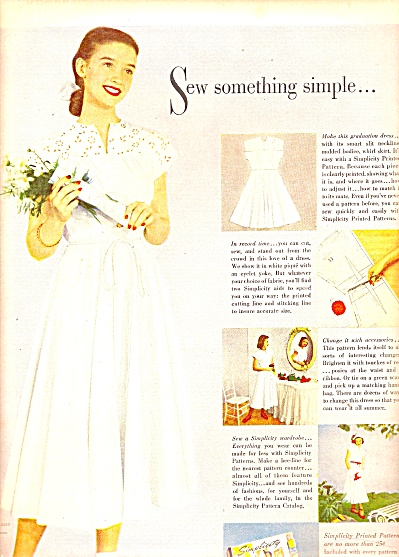 Simplicity printed patterns ad 1948 (Image1)