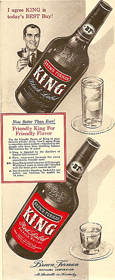 King Red Label blended whisky ad 1948 (Image1)