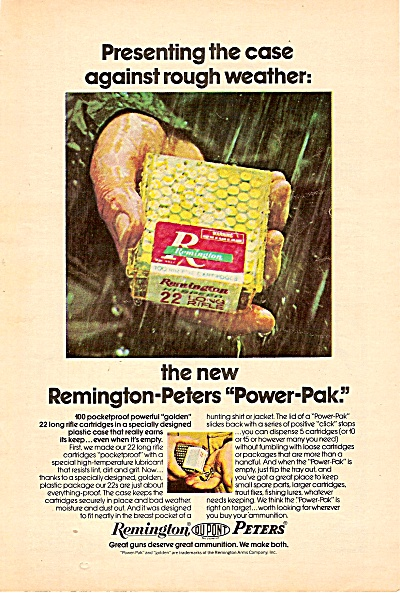 Remington Dupont Peters ad 1972 POWER PACK (Image1)