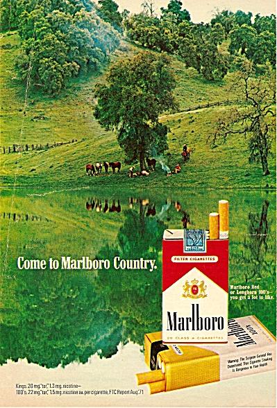 Marlboro cigarettes ad 1972 MAN MAN (Image1)
