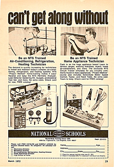 National Technical schools ad 1972 (Image1)