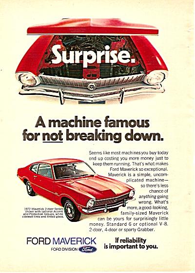 Ford Maverick auto ad 1972 (Image1)