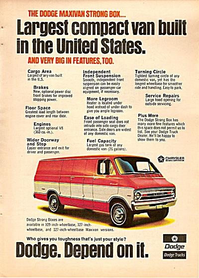 Dodge Compact Van Ad 1972