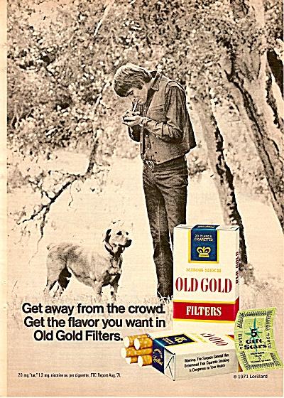 Old Gold Fil;ter cigarettes ad 1972 (Image1)