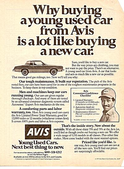 Avis used cars ad 1979 (Image1)