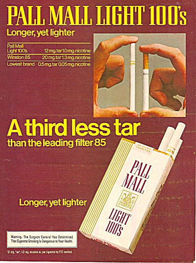 Pall Mall light 100s  ad 1979 (Image1)