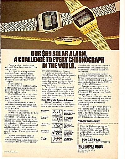 Solar alarm watch ad 1979 (Image1)