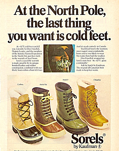 Sorels by Kaufman boots ad 1979 (Image1)