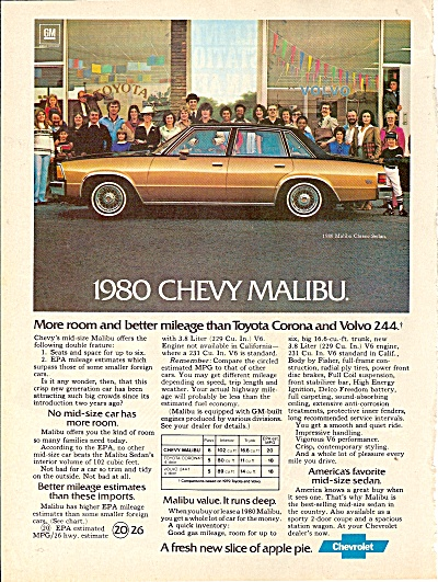 Chevfrolet Malibu Ad 1979